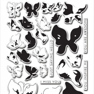 Painted Butterflies Stamp Set by Altenew