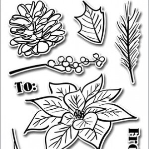 Poinsetta and Pine Stamp Set by Altenew