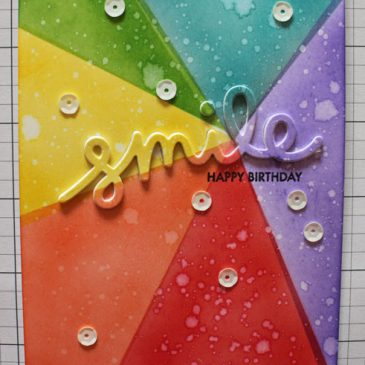 Rainbow Smile Ink Blended Card