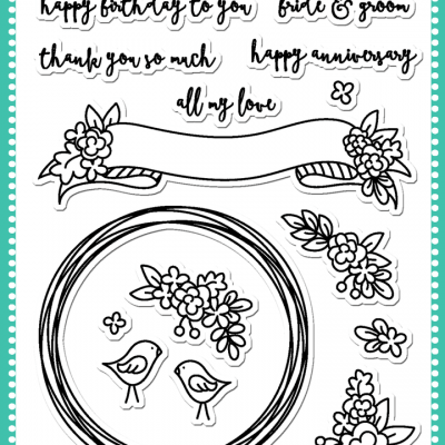 Banner and Wreath Stamp Set by Avery Elle