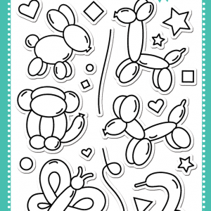 More Party Animals Stamp Set