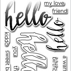 Half Tone Hello Clear Stamp Altenew