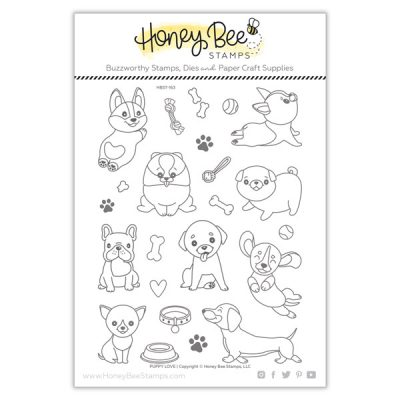 Honey-Bee-Puppy-Love-Stamps