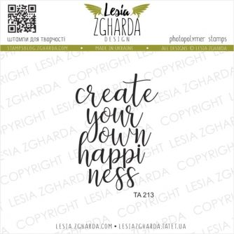 Lesia-Zgharda-Designs-Create-your-own-happiness-sentiment-TA213