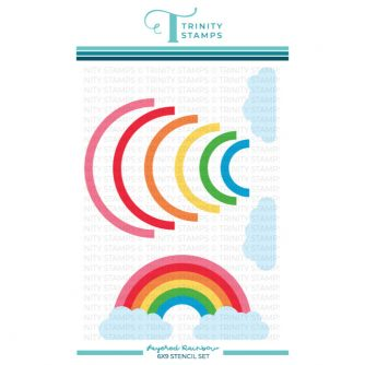 Trinity-Stamps-TSS-042-6x9-Layered-Rainbow-Stencil-Set-of-two